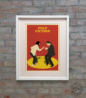 PULP FICTION - Minimalist Movie Poster Print Posteritty Tarantino Travolta Dance 2
