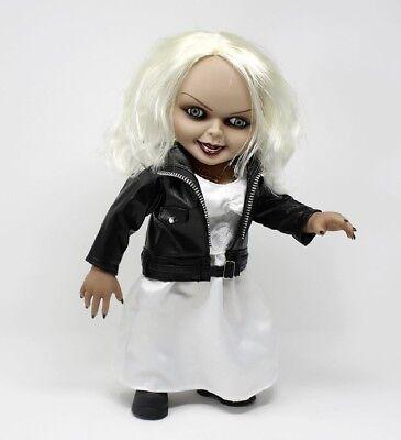 "DeLuxe Bride of Chucky Puppe 15"" Talking TIFFANY 38cm beweglich Sound Mezco Toyz"