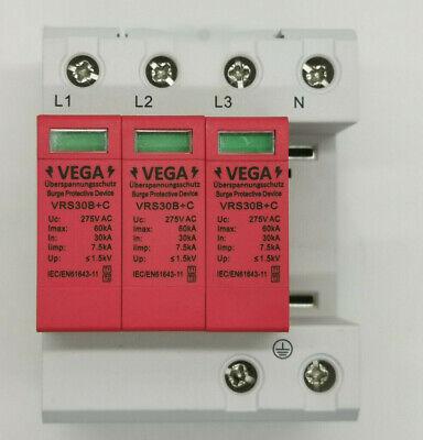 4 Polig Überspannungsableiter Blitzschutz 20//40//60//80KA 385V Ableiter Blitzable
