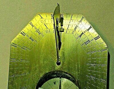 Antique French Brass Cased Pocket Sundial, circa 18th Century 2