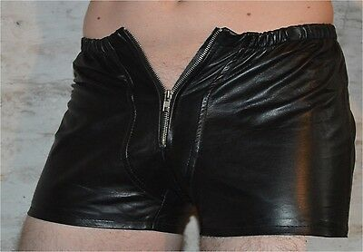 533 aus lammnapa PO frei ledershorts Gay Kurze Lederhose,leder shorts leather 6