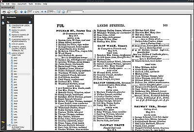 Kelly/'s Directory of Leeds 1916 GENEALOGY CDROM