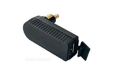USB 12V Ladekupplung für Bordnetz mit BMW Bordstecker flach 90° gewinkelt
