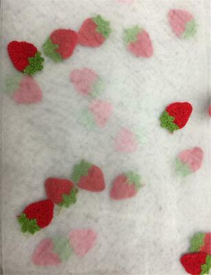 Strawberry Embroidery Tulle Lace Fabric Net Embroidered Lace Appliques By Yard