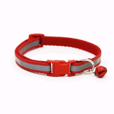 Reflective Dog Cat Kitten Collar Pet Puppy Adjustable Harness with Bell 11