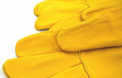 Childrens gold ventilated beekeeping Gloves (large and Small) 5