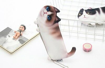 Cat Pet Fluffy Quality Toy Novelty Cute Pencil Case Cosmetic Pouch Coins Bag 10