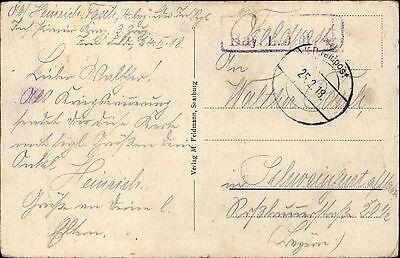 Westfront 1 Weltkrieg Karte.Feldpostkarte Aus Parroy Frankreich Westfront 1 Weltkrieg 1918 Feldpost Gelauf