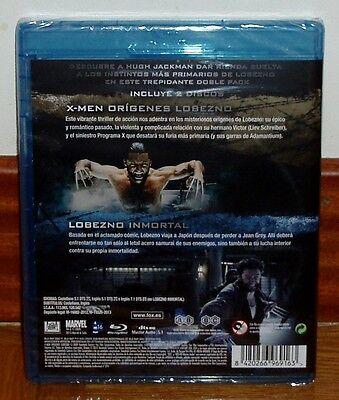 Lobezno+Lobezno Inmortal 2 Peliculas 2 Blu-Ray Nuevo Precintado (Sin Abrir) R2 2
