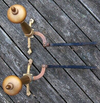 """Antique 18 Century Chippendale Brass Pair of Andirons Ball & Claw Feet 22"""" Tall 7"""