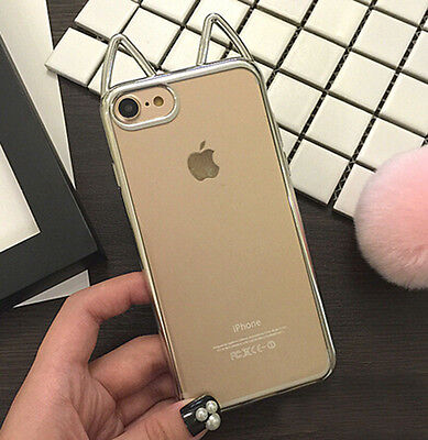 ea3eaab208 ... Cute Cat Ears TPU Cover Case For iPhone 6/6S Plus 7 plus Christmas Gift