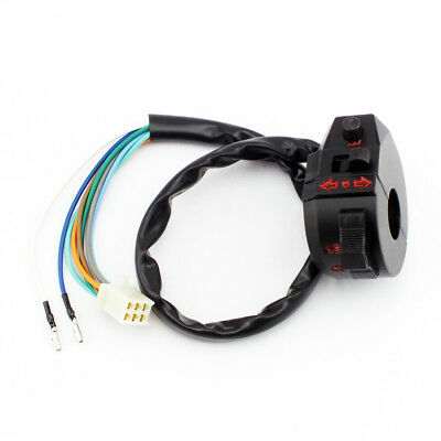 Motorcycle Control Turn Signal Horn Low High Beam Left Switch 7/8 Handlebar