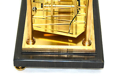 8 Day Miniature English William Congreve Rolling Ball Clock with Marble Base 12