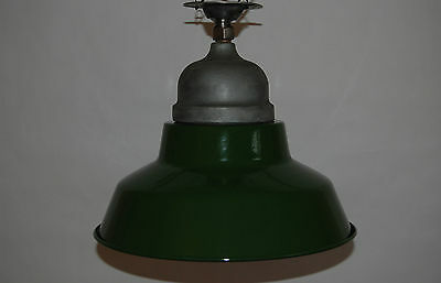 Crouse & Hinds Green & White Enamel Explosion Proof Vapor Light Industrial Glass 8