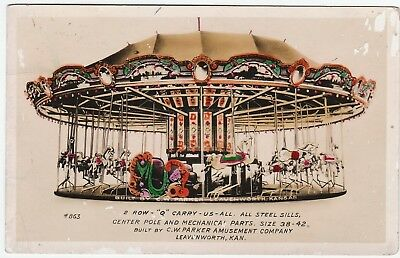 ARCHIVE  C W Parker Amusement Co 6 Real Photos 1910 RPPC Carousel Leavenworth KS 4