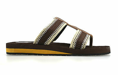 6ef71162c ... Mens Gladiator Sandals Summer Beach Cushioned Walking Flip Flop Mules  Shoe Size 3