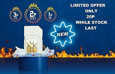 O2 Classic Sim Card  2G/3G/4G Pay As You Go  Standard Micro Nano 10