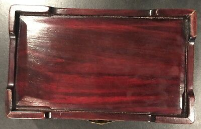 Chinese Rosewood Box with Jade Pieces on Top 6