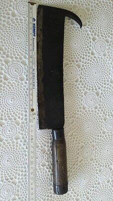 Antikes Beil Fleischerbeil antik mit Holzgriff punziert Goldenberg Länge ca.37cm 2