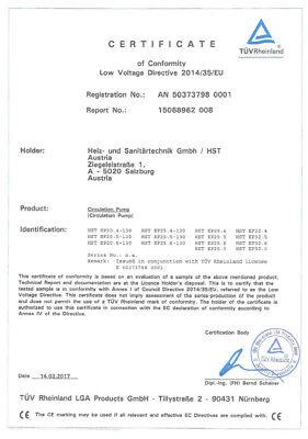 Heizungspumpe  HSTEP 25-40, 25-60, 32-40, 32-60 /180 mm Klasse A  Hocheffizienz