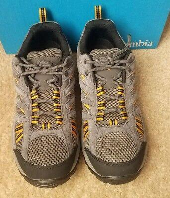 New Columbia Mens North Plains Drifter Hiking Trail Shoes Charcoal  Sz 8