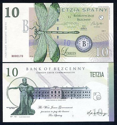 Limited Issue Dragonfly SET Territory of West Junee 7 Banknotes