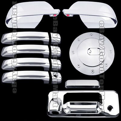 Fit Toyota TUNDRA Chrome Cover CREWMAX 2014-18 2 Mirrors+4 Handles+Tailgate+Gas