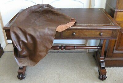 Antique Victorian Walnut Library Leather Top Table / Writing Sofa /Stunning Desk 12