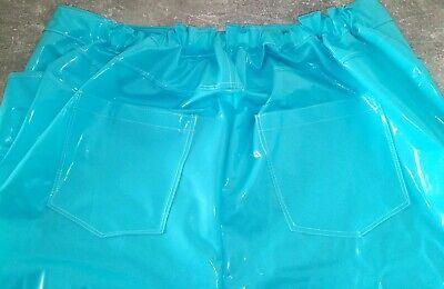 Adult Baby SISSY GUMMIHOSE PVC Hose LACK Jeans Gummi Unisex PLASTIK TRAVESTIE XL 8