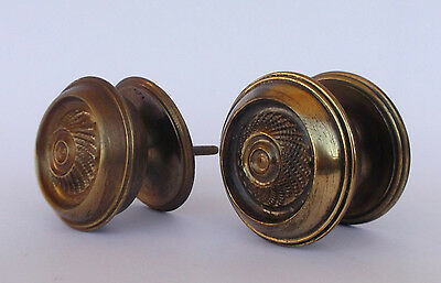 Vintage Pair Of Brass Handle/knobs 2