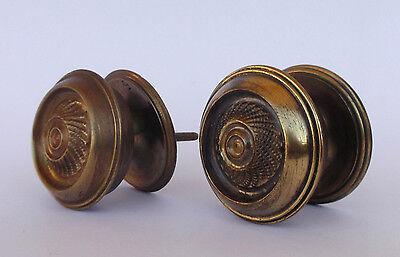 Vintage Pair Of Brass Handle/knobs 2