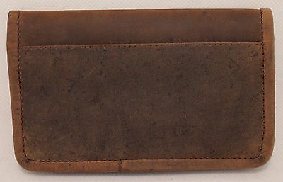 Quality Full Grain  Vintage Leather Tobacco Pouch. Style:12033. BLACK/BROWN 6