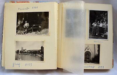 Alte Fotoalbum ab 1938 mit 118 Fotos