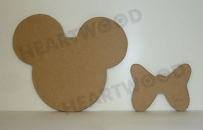 MICKEY MOUSE HANDS SHAPE IN MDF 93mm x 6mm//WOODEN CRAFT SHAPE//BLANK DECORATION