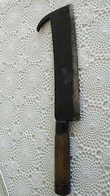 Antikes Beil Fleischerbeil antik mit Holzgriff punziert Goldenberg Länge ca.37cm 12