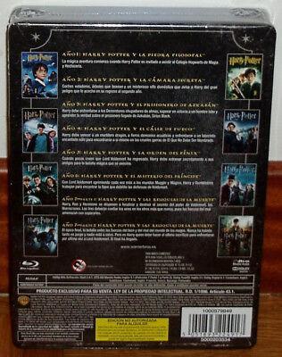 Harry Potter Coleccion Completa 1-8 Blu-Ray Caja Metalica Jumbo Nuevo Precintado 2