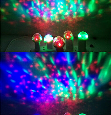 USB LED RGB Disco Stage Light Party Club DJ KTV Magic Ball Lamp Color Changing 8