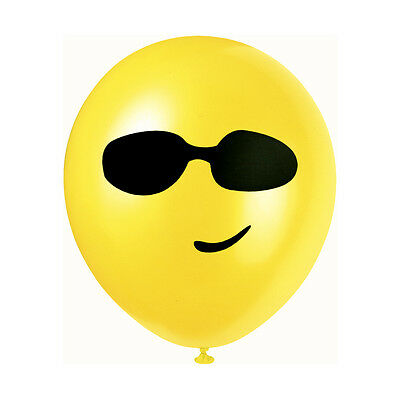 """Party Fun Smiley Face Latex Balloons 30cm-12/"""" Pack of 10 pcs Asst Colours"""