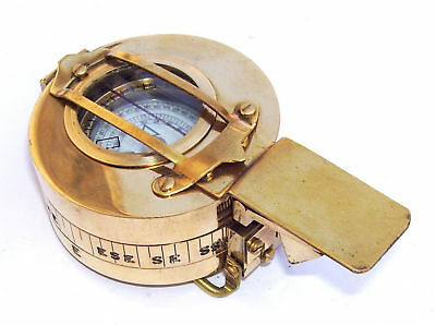 Military Compass Engineering Compass Prismatic Vintage Nautical Style Handmade 6