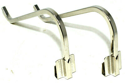 2 x GALLERY 125mm NICKEL CURL UP & STAND SQUARE WIRE PICTURE FRAME PHOTO CLIP ON 2