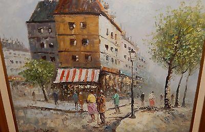 CAROLINE BURNETT PARIS Market Street Scene Original Oil On Canvas Painting