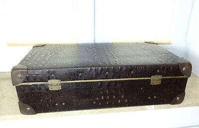 Real Volcano Fibre Suitcase um 1910 Vulcanised Fibre Travel Cases 12