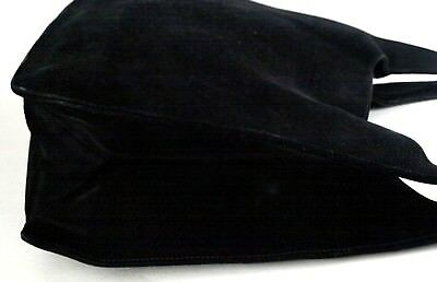 67afc34c9fb5 ... Authentic Gucci Black Suede Leather Hobo Tote Shoulder Bag Purse Italy  Vintage 3