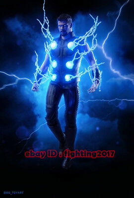 HOTTOYS HT 1/6 Avengers 3 MMS474 THOR 7 0 LED Lightning Effects In Stock