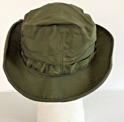 ... Unissued Original 1969 Vietnam O.d. Jungle Boonie Hat W insect Net 6 7 8 811a4164048