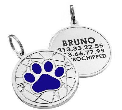 Personalized Dog Tags Pet ID Name Custom Engraved Cat Puppy Tag Bone Paw S L 10