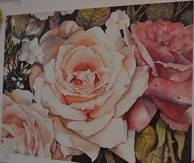 Vintage Angela's Roses Signed Paul Eade 223/1050 Limited Edition Print 2