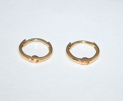 1 Of 5free Shipping Baby Tiny Huggie Earrings 5mm Thickness 14k Yellow Solid Gold