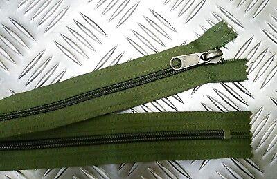 "Genuine British Military OPTI 8/"" Closed End Green Zip Zipper H Duty ZPM39"