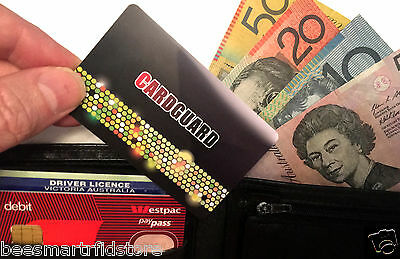 4 x CREDIT CARD GUARDS // RFID CHIP BLOCKING TO PROTECT YOUR CREDIT CARDS